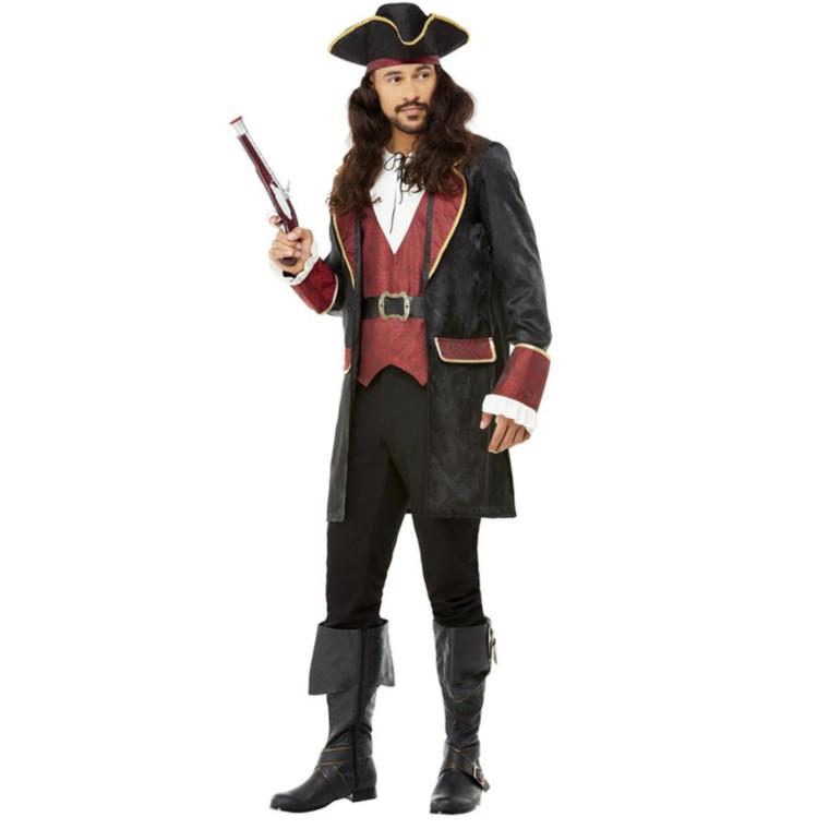Mens Deluxe Swashbuckler Pirate Fancy Dress