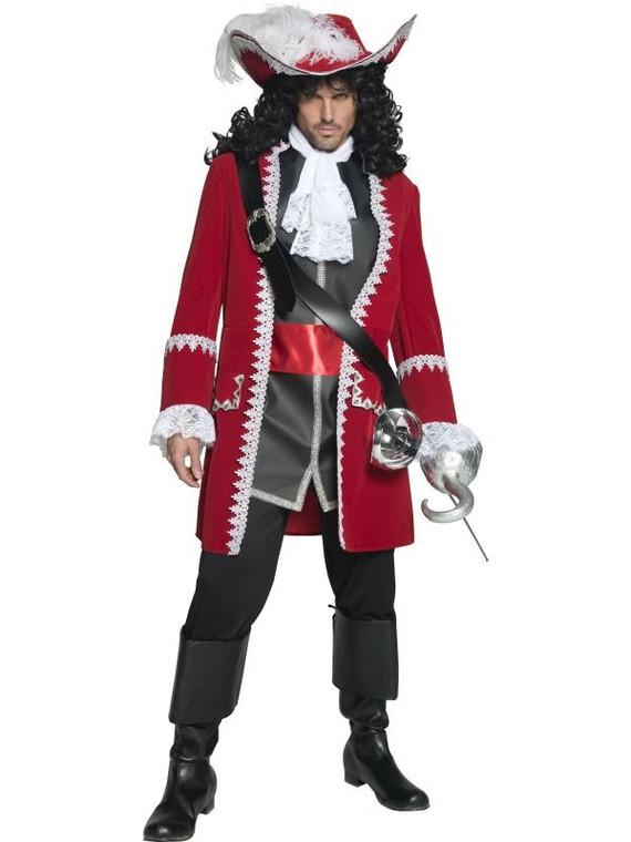Mens Deluxe Authentic Pirate Captain Fancy Dress Costume