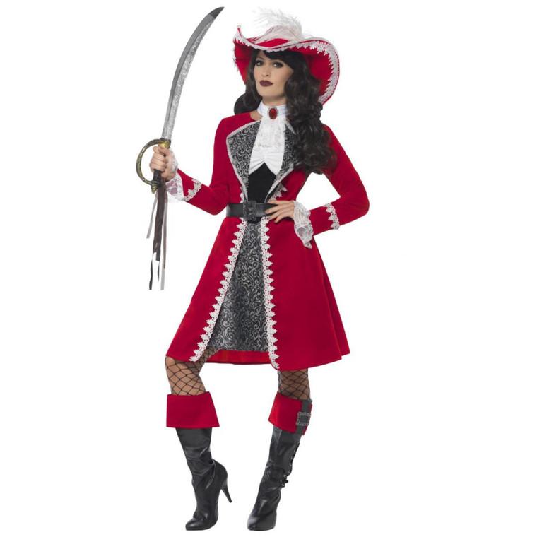 Ladies Deluxe Authentic Pirate Costume