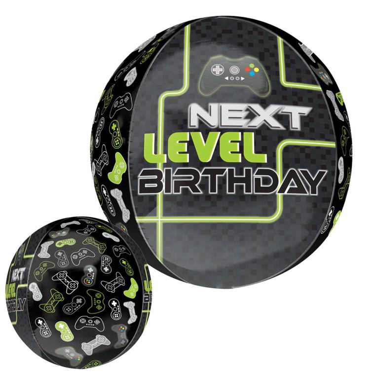 Next level birthday sphere foil helium balloon