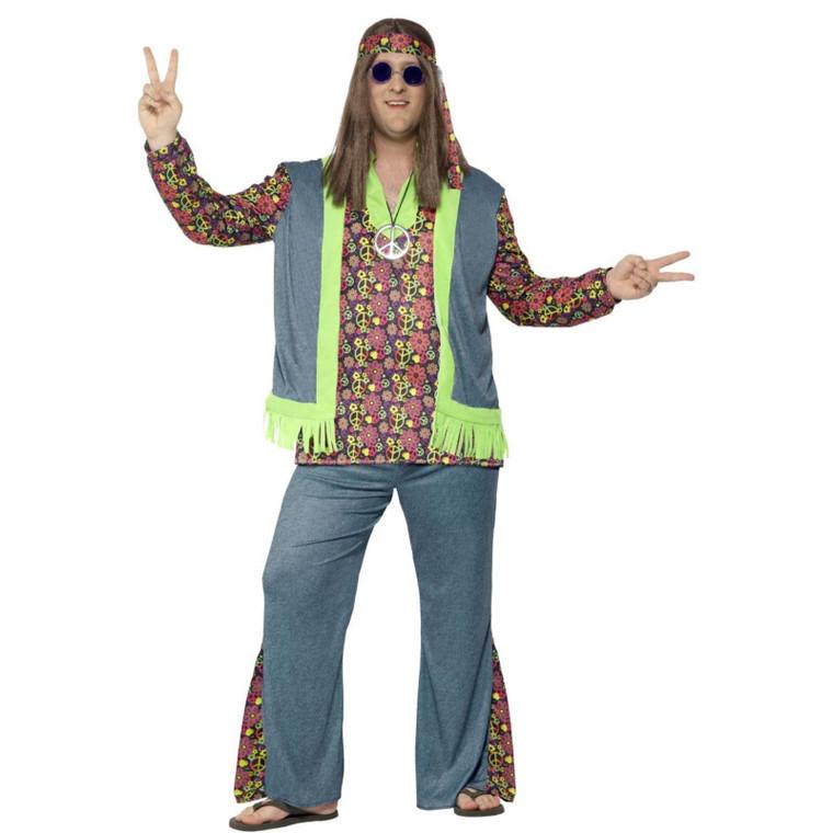 Mens Curves Hippie Costume