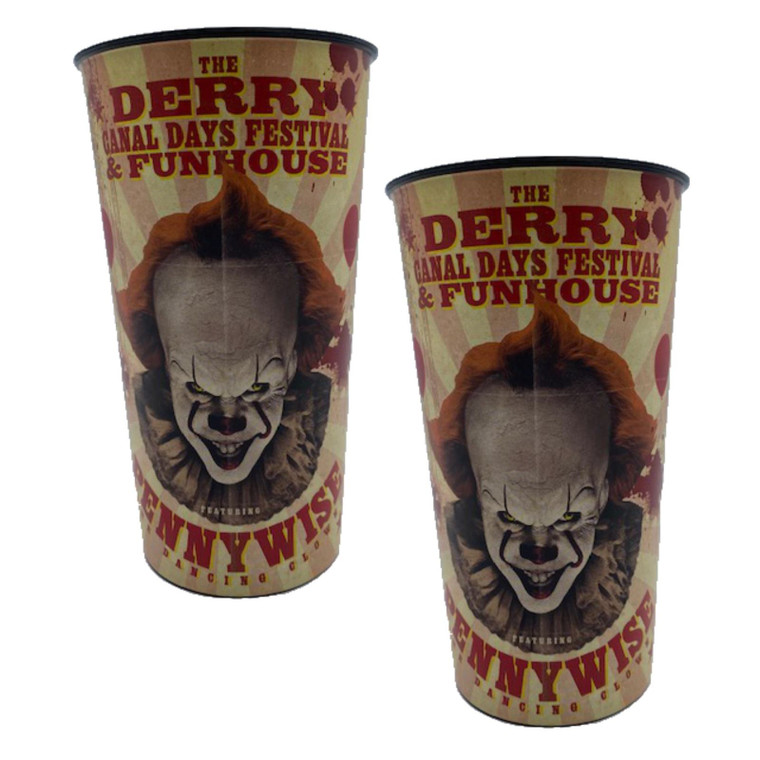 x2 IT Chapter 2 Pennywise Plastic Cups Bundle Tableware Halloween Party Decoration