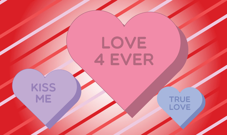 3'x5' Valentine's Day Flag - Candy Hearts