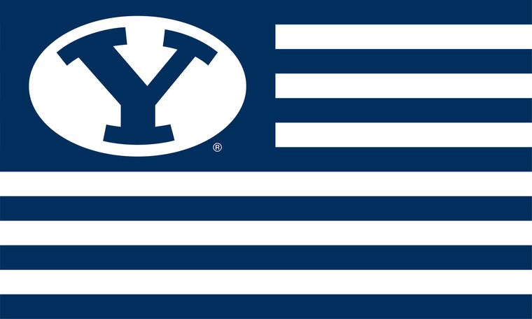 Brigham Young University American Flags