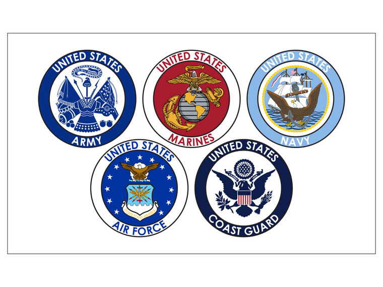 5 Branches of the Military, 3x5