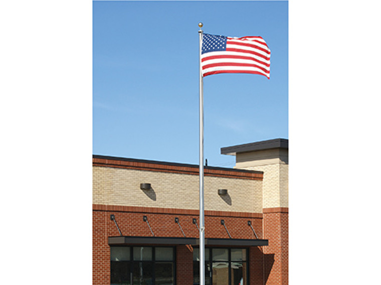 4 Section Tapered Flagpole 25'-Satin