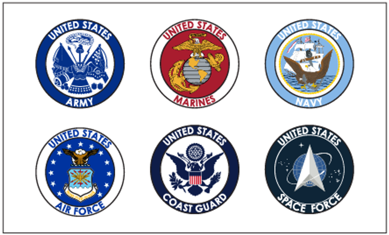6 Branches of the Military, 3x5