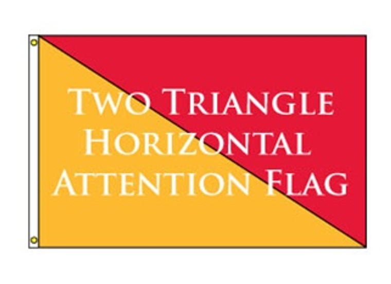 Two Triangle Horizontal Attention Flag