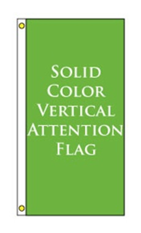 Solid Color Vertical Attention Flag