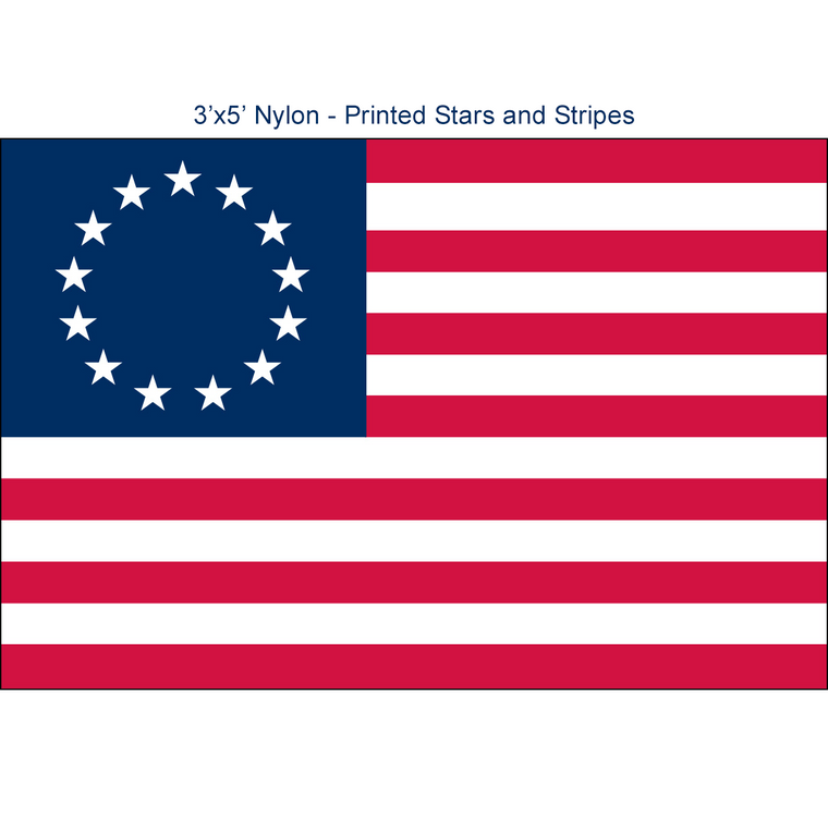 Betsy Ross Flags - 3'x5' Light Weight Polyester
