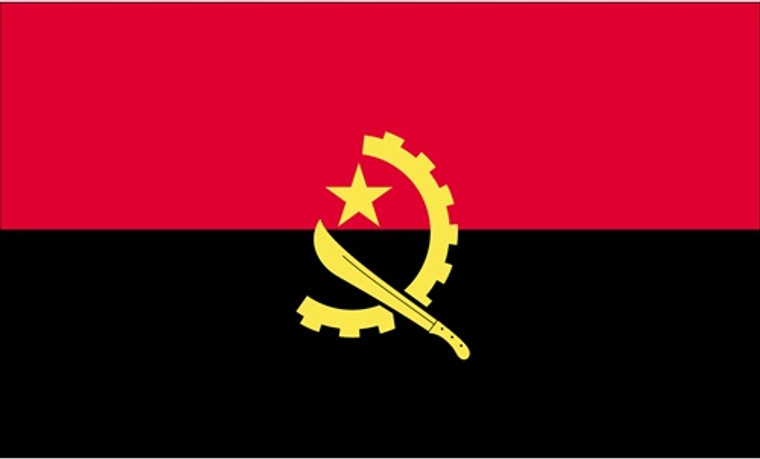 Angola - 3'x5' Light Weight Polyester Flag