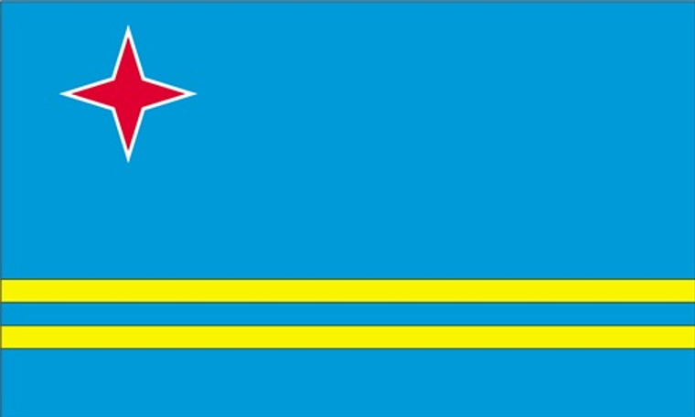 Aruba - 3'x5' Light Weight Polyester Flag