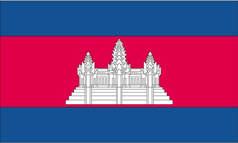 Cambodia - 3'x5' Light Weight Polyester Flag