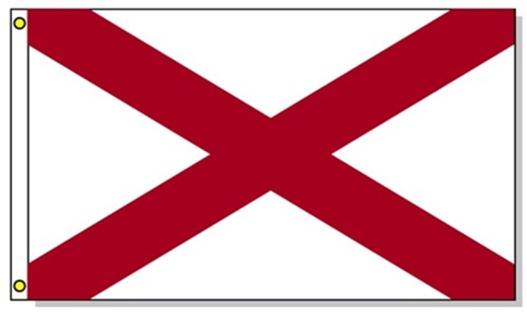 Alabama State Flags - 3'x5' Light Weight Polyester