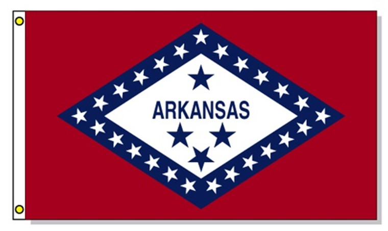 Arkansas State Flags - 3'x5' Light Weight Polyester