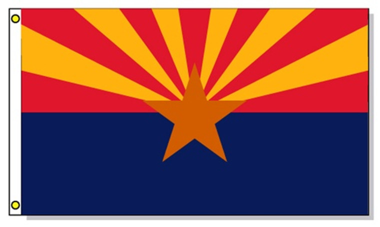 Arizona State Flags - 3'x5' Light Weight Polyester