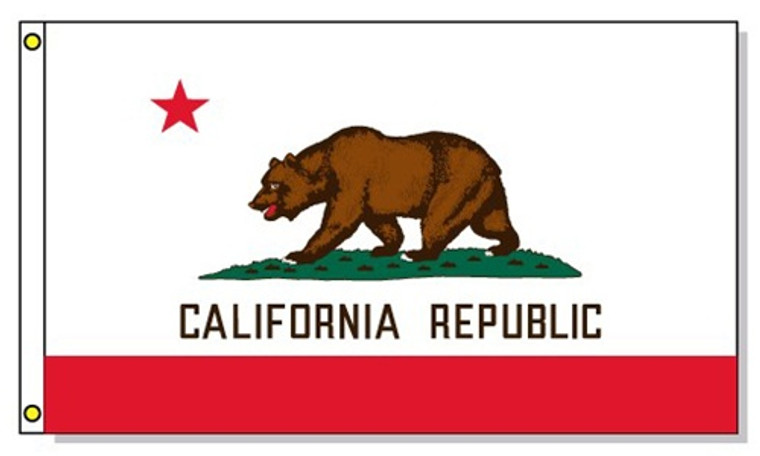 California State Flags - 3'x5' Light Weight Polyester