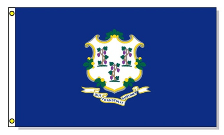 Connecticut State Flags - 3'x5' Light Weight Polyester