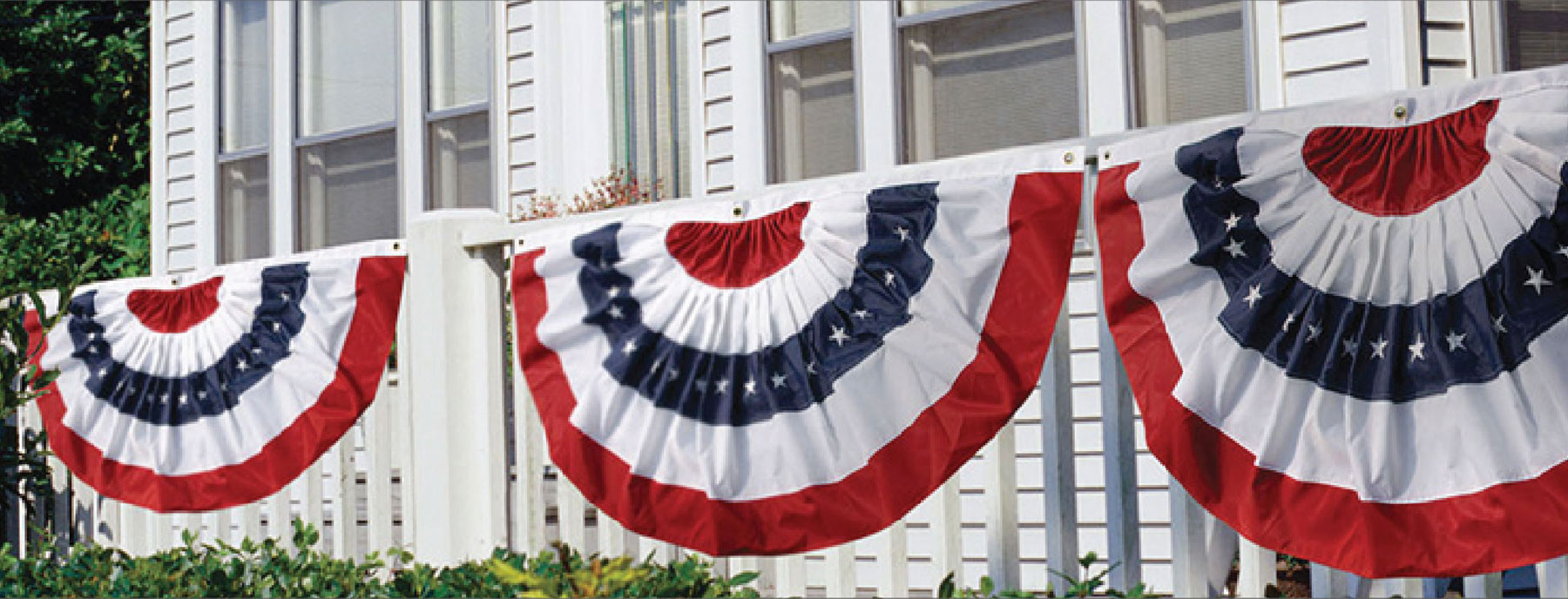 US Flag Bunting and US Pleated Fans