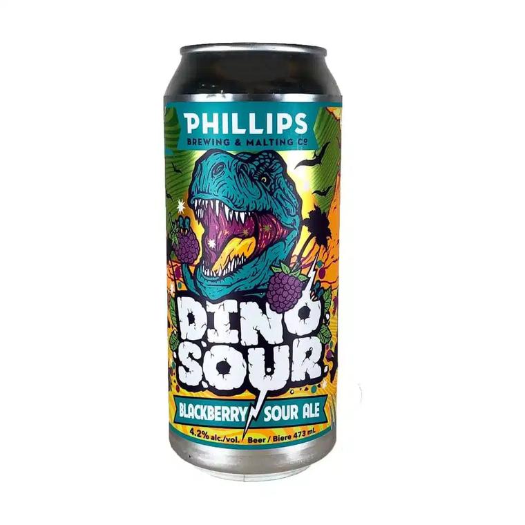 PHILLIPS DINOSOUR BLACKBERRY SOUR 473 ML CAN