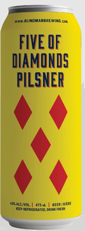 BLINDMAN FIVE OF DIAMONDS PILSNER 473 ML