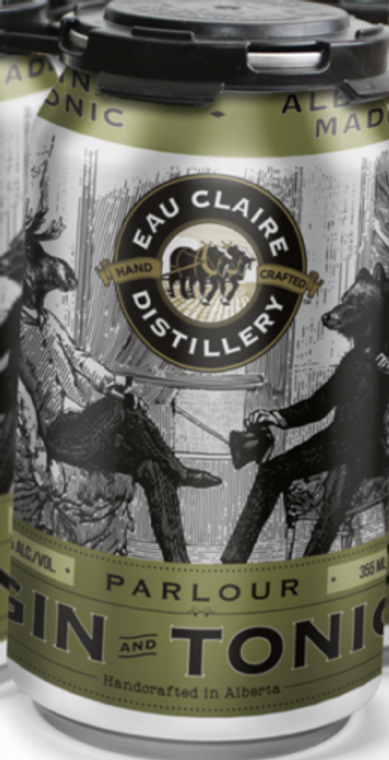 EAU CLAIRE GIN AND TONIC 355 ML CAN