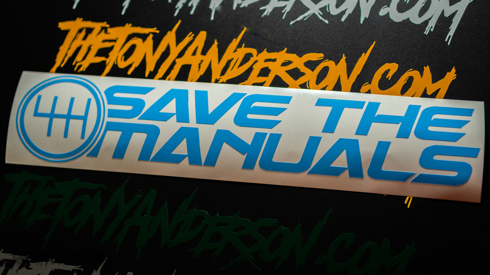 Save the Manuals decal sticker