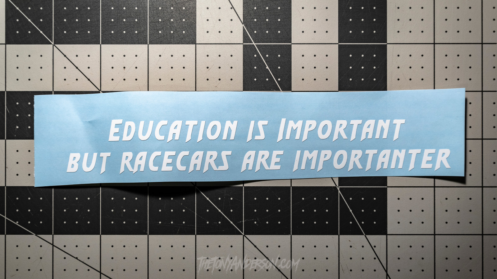 Education is Important but Racecars are Importanter Sticker Decal