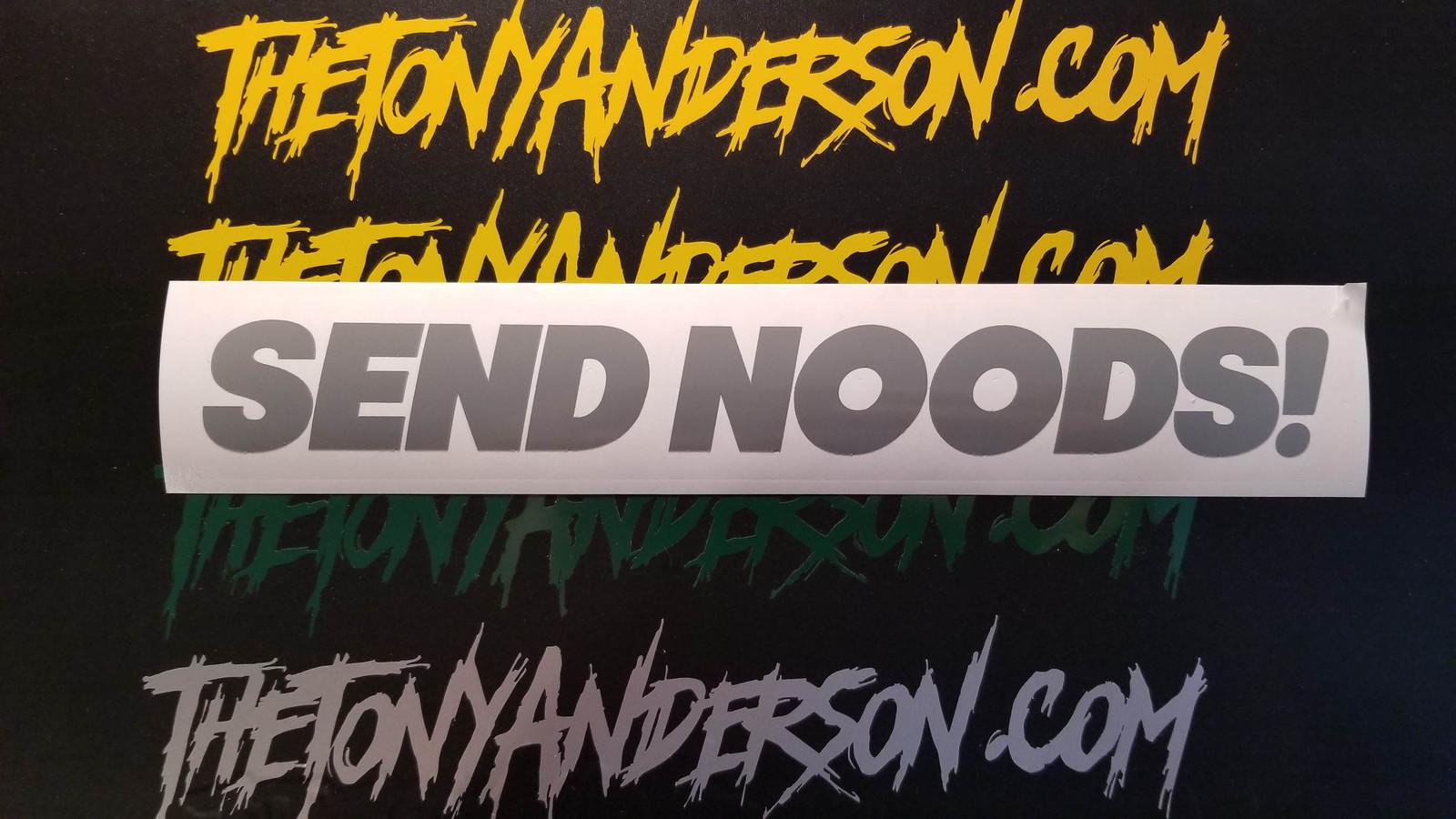 """""""Send Noods!"""" Decal Sticker"""