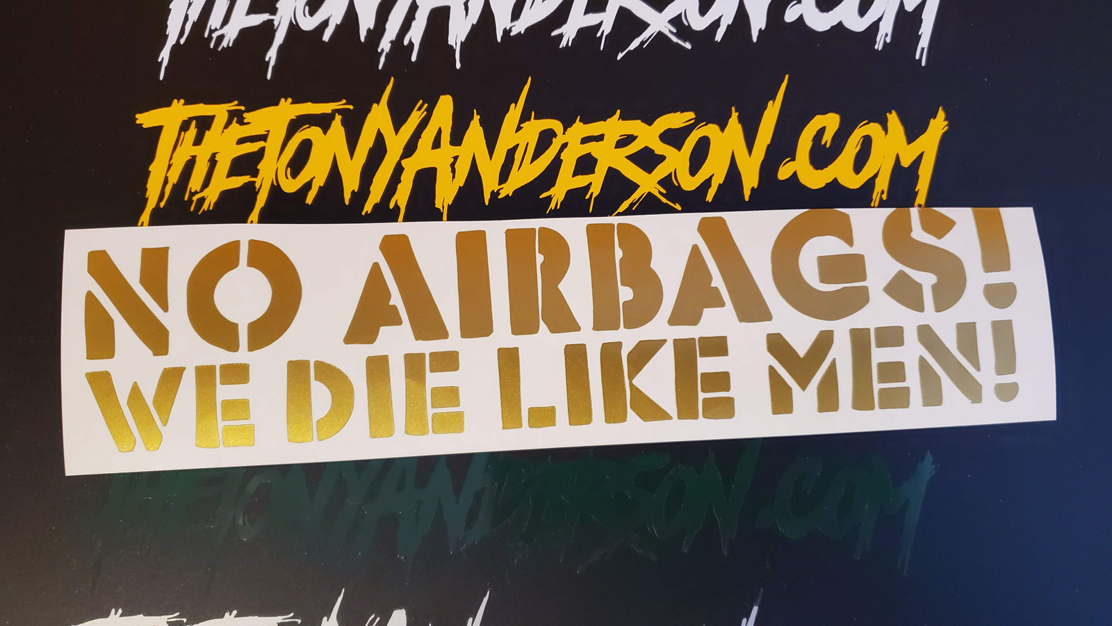 No Airbags! We Die Like Men! Sticker