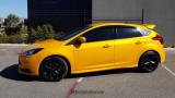 "Ford Focus Hatchback ""ST"" Quarter Window Decal on Tangerine Scream"