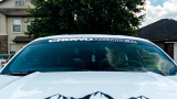 Crowd Hunter Windshield Banner on Mustang GT