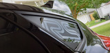 Matte Black RS Quarter Window Decal on Stealth Gray Ford Focus RS