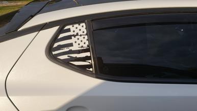 Decal Kia Optima 130mm x 2 Graphic In Glass Chrome Sticker