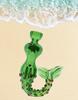 """4.5"""" Smoking Glass Mermaid Hand Pipe Green"""