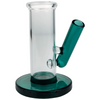 """3"""" Glass Carb Cap & Dabber Stand - Lake Green"""