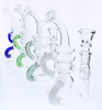 White Recycler Water Pipe