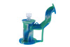 Silicone Dab Rig Waterpipe Kit with Quartz Nail - Blue, Green & White