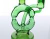 "7"" Green Donut Recycler Dab Rig / Bong"