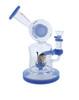 7.8 Inch DJ Water Pipe Lookah Glass Jade Blue
