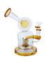 7.8 Inch DJ Water Pipe Lookah Glass Gold