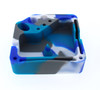 Square Silicone Dab Station - Blue, Teal, Grey, and White