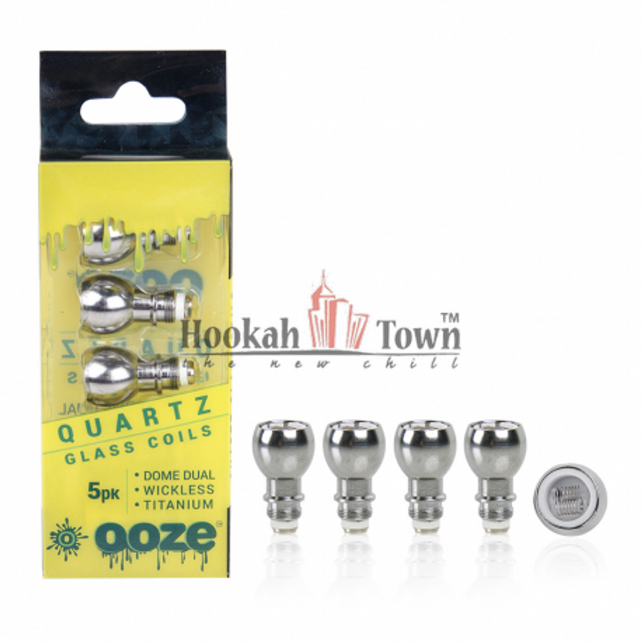 5 Pack Dome Dual QUARTZ Coils