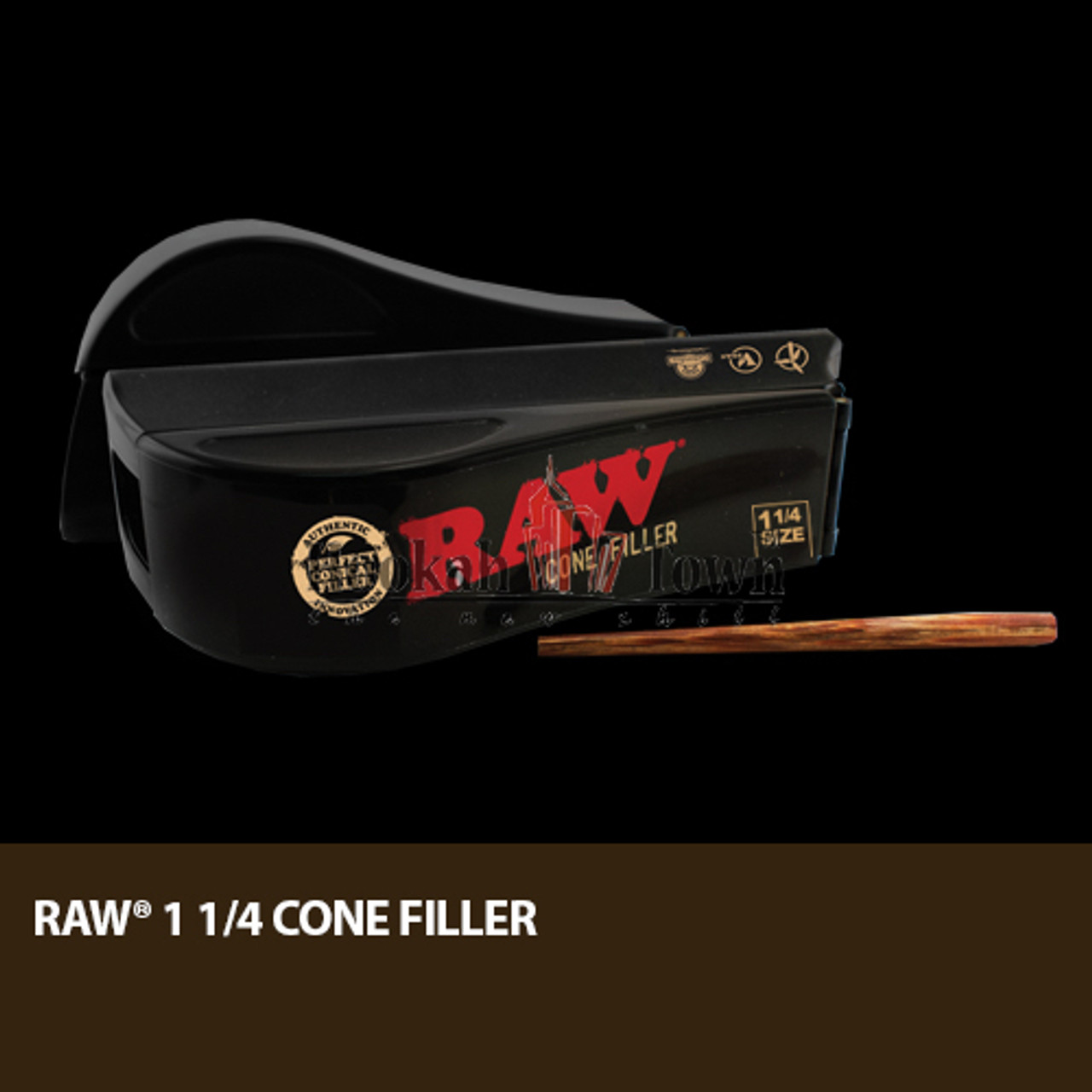 "Raw 1 1/4"" Cone Filler w/ Stick Easy Fill and Pack"
