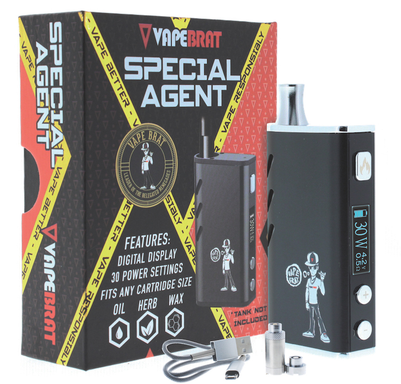 Special Agent Conceal Wax Vape Juice Pen Kit : Black