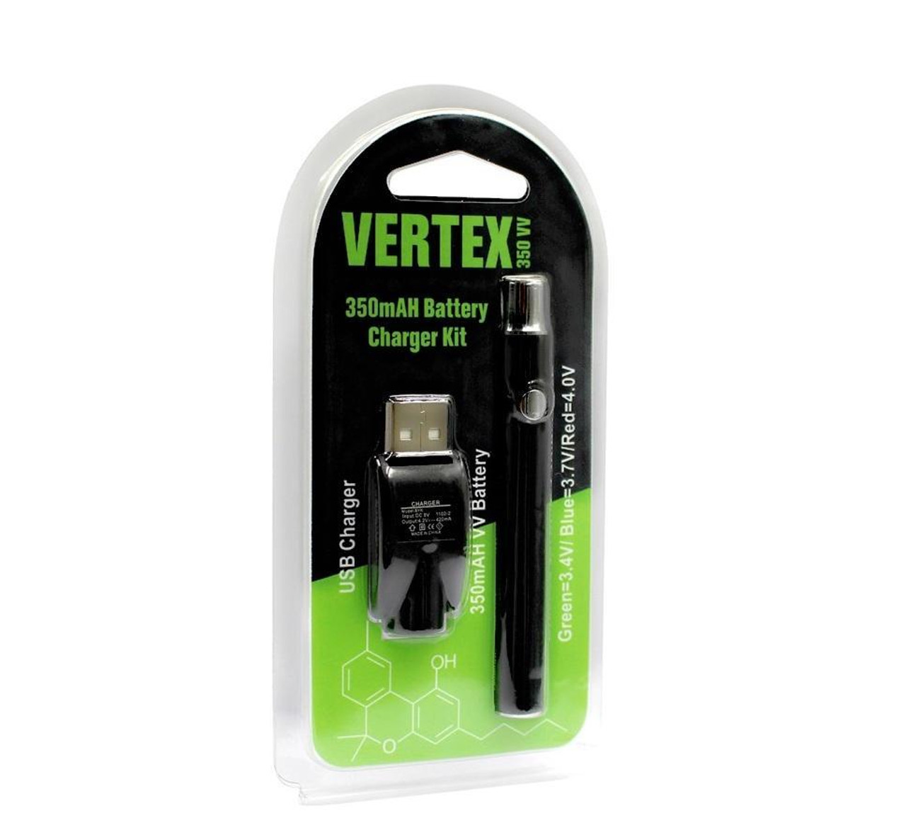 Vertex 350mAH Battery w/ Charger Kit
