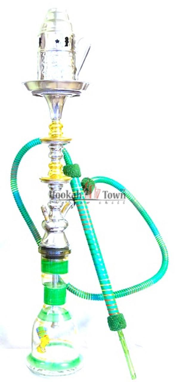 Authentic Handmade Deluxe Egyptian Hookah-Bar Hookah : 035 (Green)