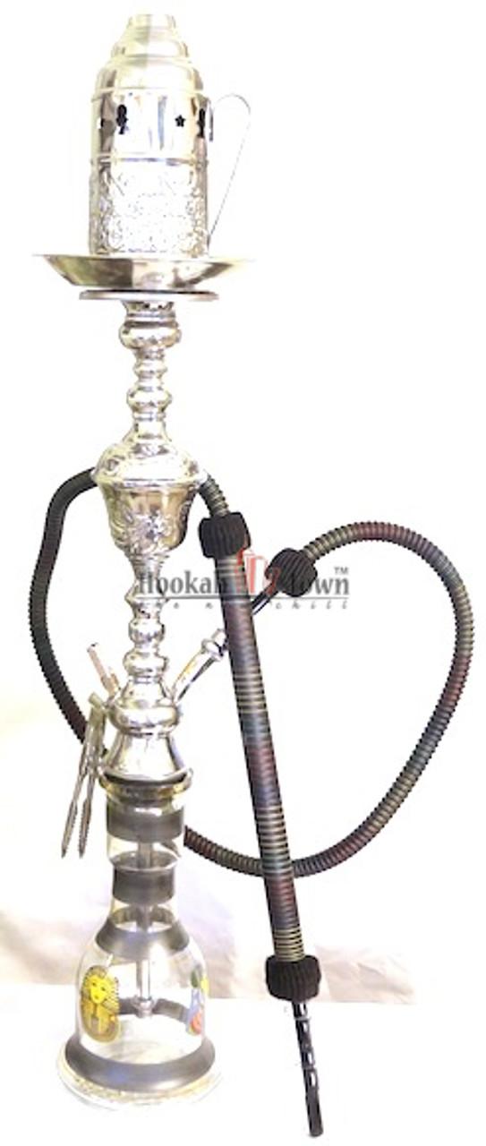 Authentic Handmade Deluxe Egyptian Hookah-Bar Hookah : 042 (Black)