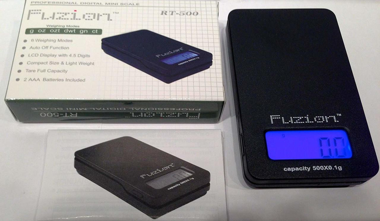 10ct Fuzion Digital Mini 500g x 0.1g Pocket Scale RT-500