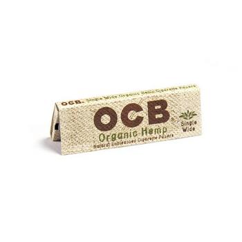 OCB Organic Hemp Unbleached Rolling Papers Single Wide